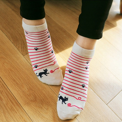 fashion-chaussettes-femme-striped-cat-animal-printed-cute-cartoon-meias-women-ankle-socks-woman-sock-invisible