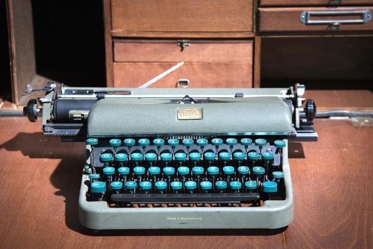 Vintage typewriter. Vienna, Austria