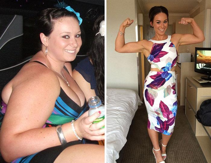 Casos de personas antes y después de perder peso tan...