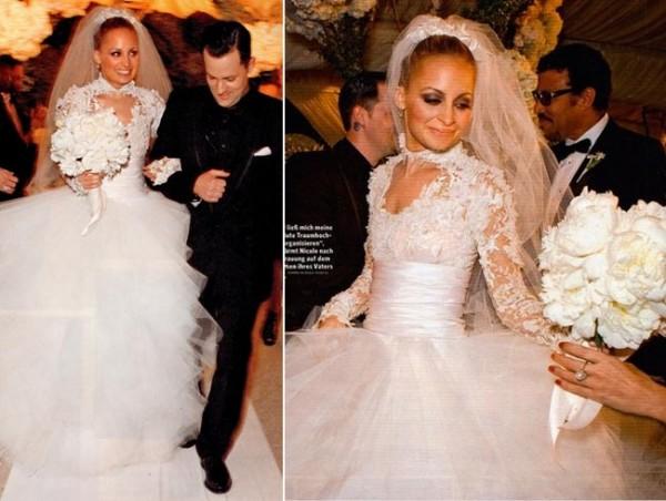 Nicole-Richie-Wedding-Dress-Marchesa-600x452