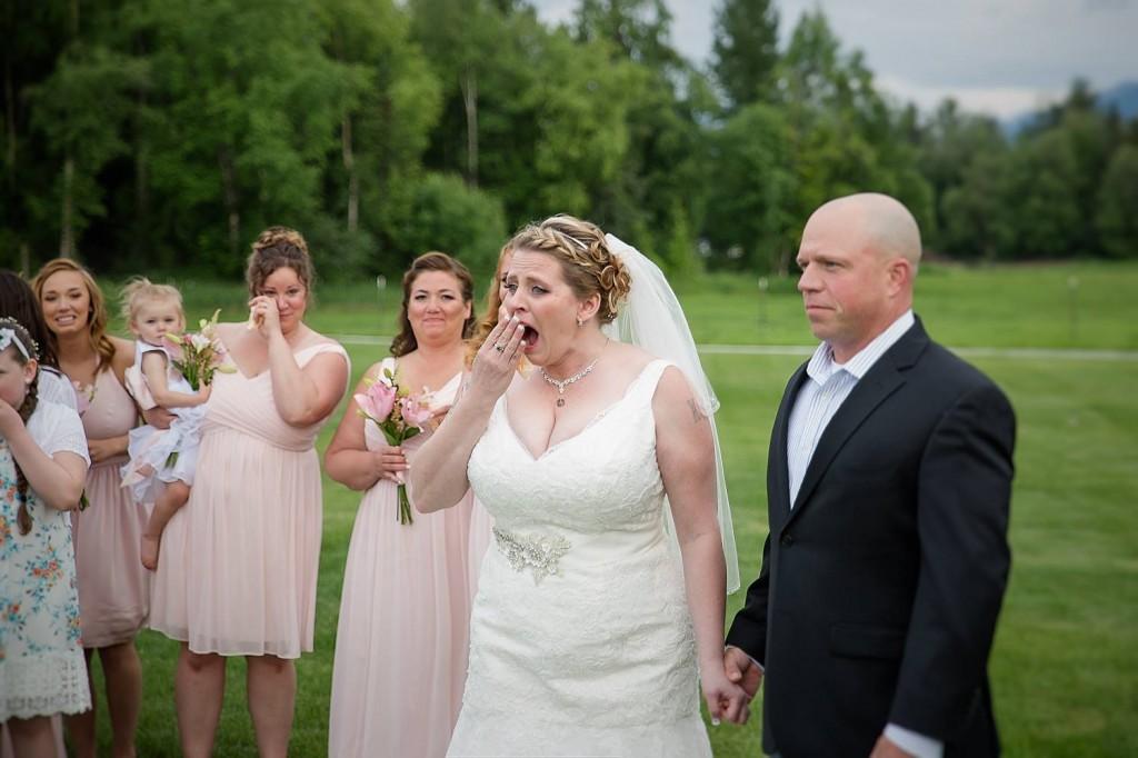 Esta novia recibió una emocionante sorpresa el día de su boda ...