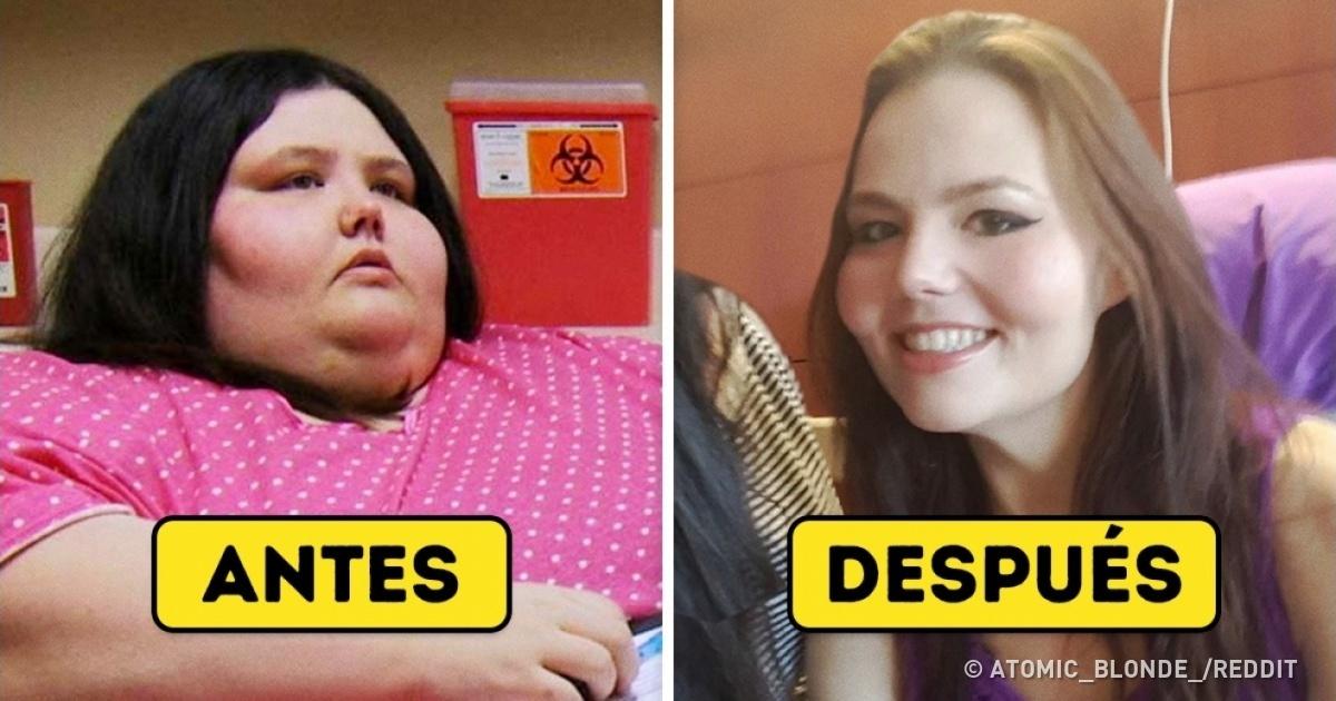 18 Personas mostraron sus fotos de antes y después de