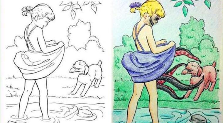 Humor: 21 dibujos para colorear de niños que fueron corrompidos por ...