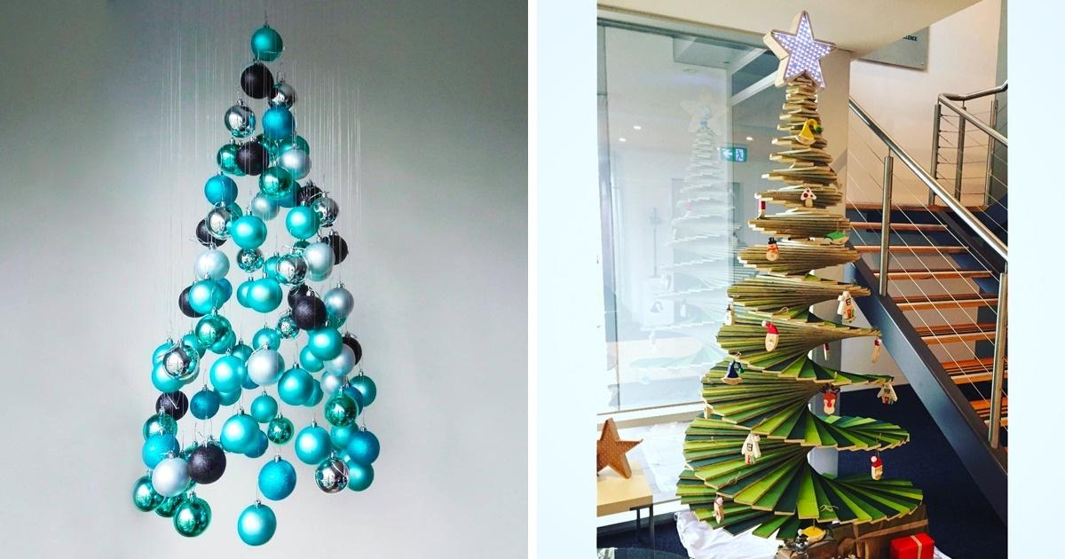 20 Ideas Para Hacer Un Arbol De Navidad Original Con Tus Propias - Hacer-un-arbol-de-navidad-original