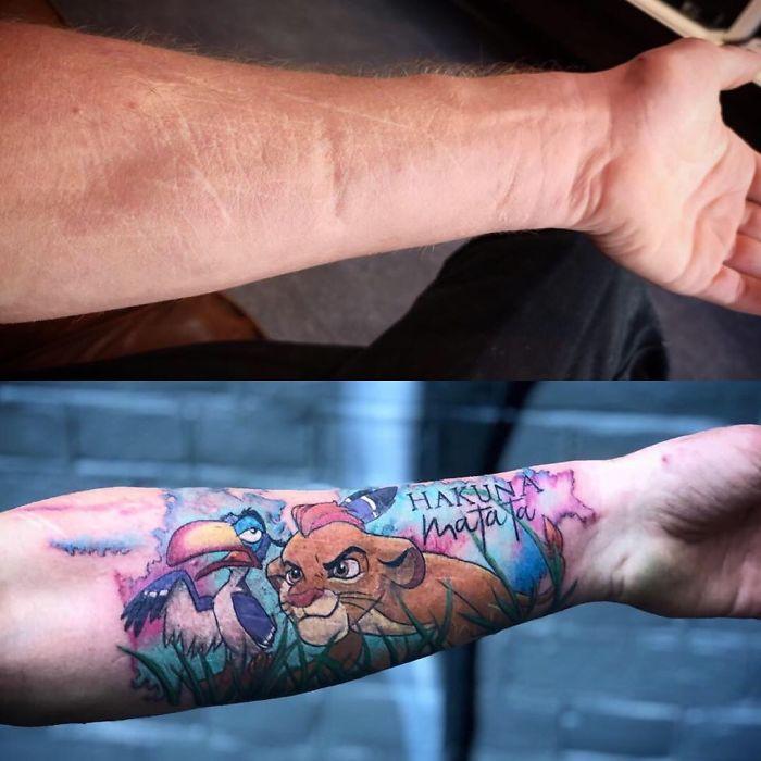 28 Increíbles tattoos que son obras de arte cubriendo cicatrices y marcas de nacimiento