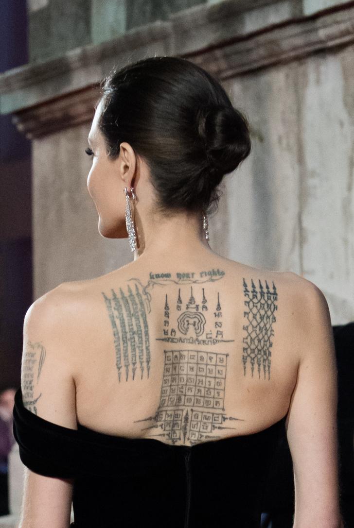 Angelina Jolie Dejo Ver Algunos De Sus Tatuajes Y Ya Hay Un Manual