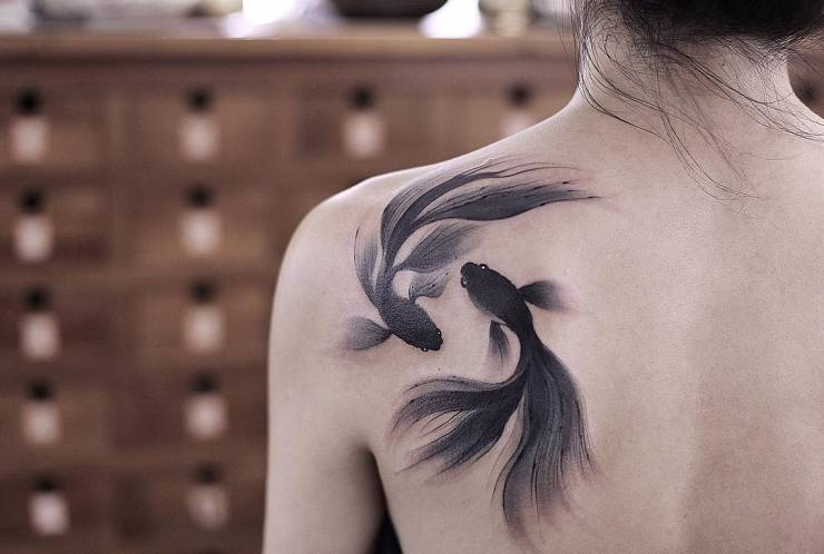 28 Tattoos with watercolor effects that are the coolest thing you'll see today 1