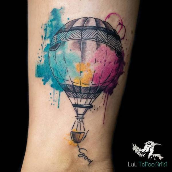 28 Tattoos with watercolor effects that are the coolest thing you'll see today 5