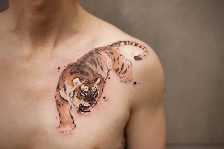28 Tattoos with watercolor effects that are the coolest thing you'll see today 25