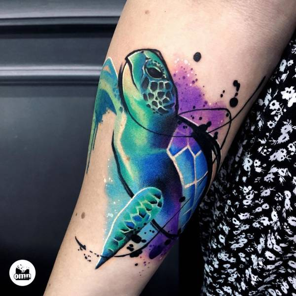 28 Tattoos with watercolor effects that are the coolest thing you'll see today 28