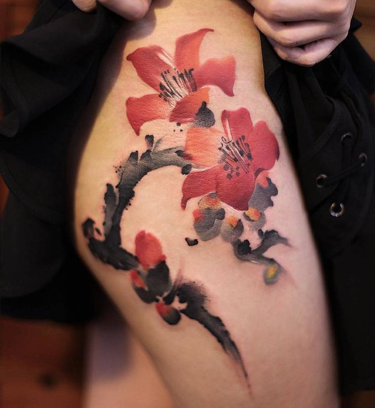 28 Tattoos with watercolor effects that are the coolest thing you'll see today 2