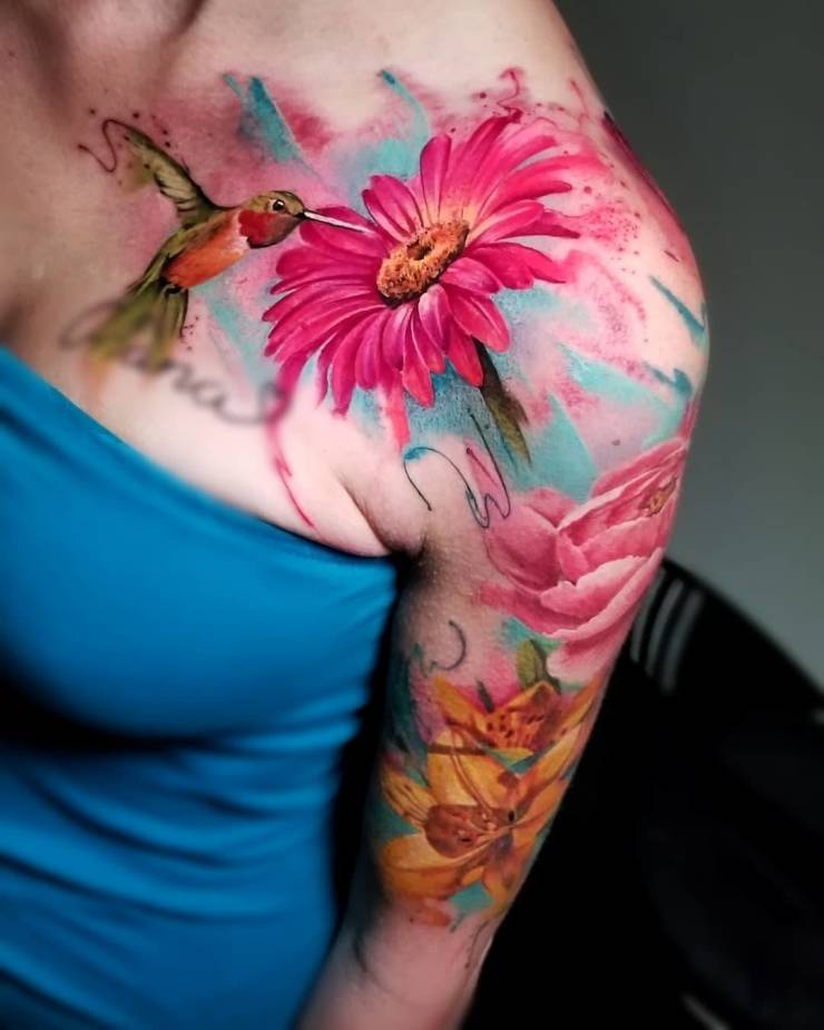 28 Tattoos with watercolor effects that are the coolest thing you'll see today 6