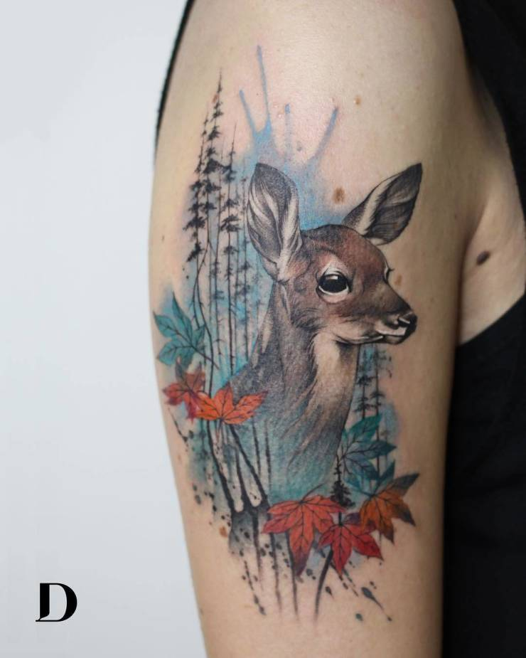 28 Tattoos with watercolor effects that are the coolest thing you'll see today 11